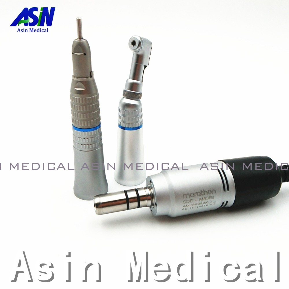High quality E type Dental Lab Polisher Micromotor M33Es Hand piece Contra Angle And Straight handpiece 350,000 RPM
