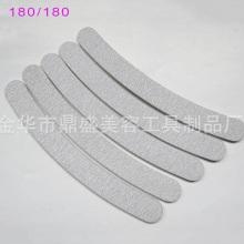 180/180 Zebra Bent Diamond Gray Nail File Professional Emery Board FileS Pedicure 10pcs Manicure Tool Free Shipping #TCF01