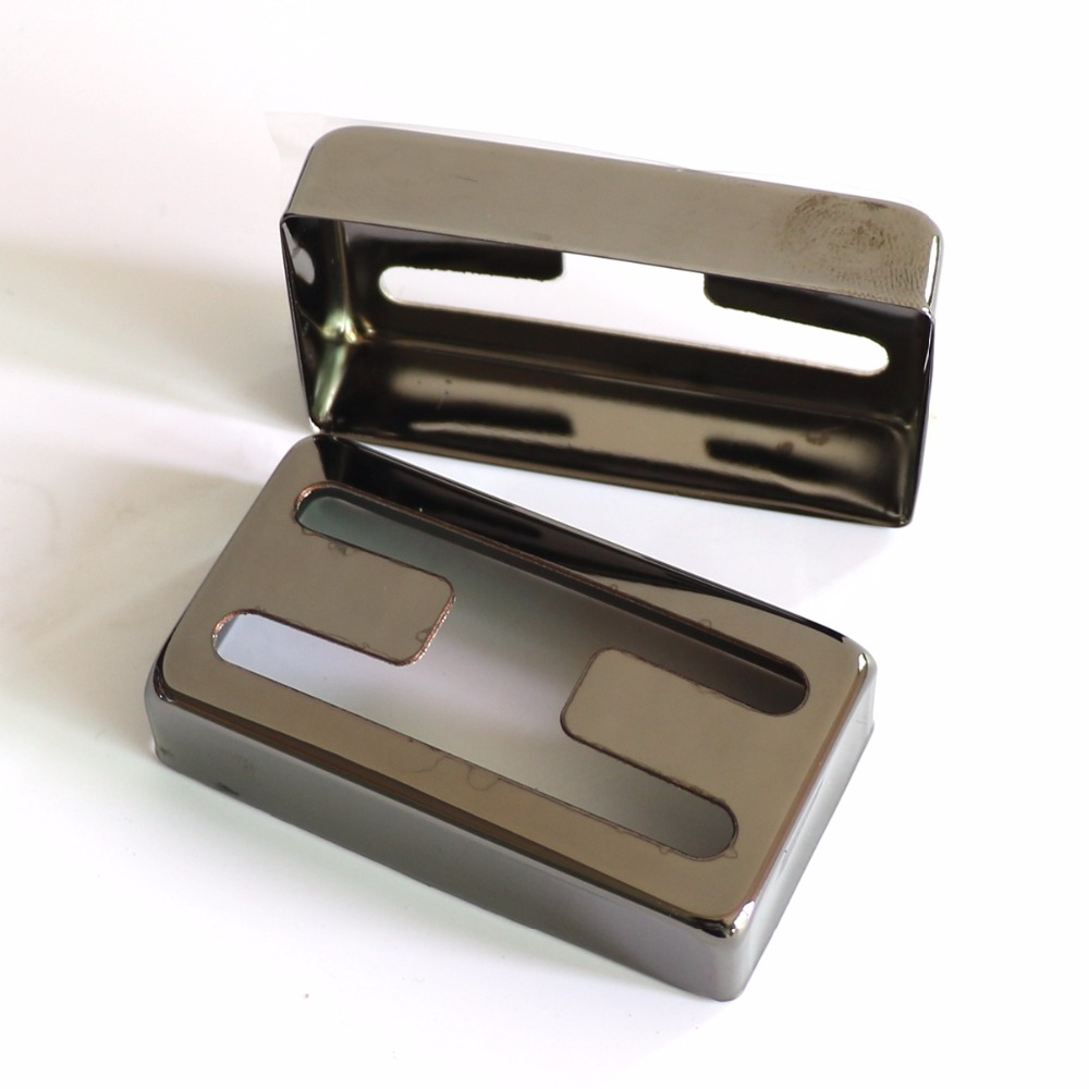 1 Set Black Color H Hole Nickel Silver Humbucker Guitar Pickup Cover For Lp Guitar Pickup Kits