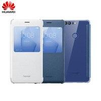 Officielle originale Huawei Honor 8 Flip Couverture En Cuir Cas De Protection cas Fonda avec Fenêtre d'affichage Smart Cover Pour Huawei Honor 8