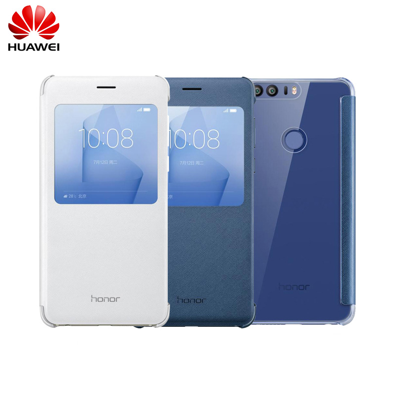 new style 982c9 4daa3 Original Huawei Honor 8 Case Protective Case Funda With View Window Smart  Cover For Huawei Honor 8 Lite Flip Cover Leather Case