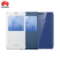 Original Official Huawei Honor 8 Flip Leather Case Protective Case Funda With View Window Smart Cover