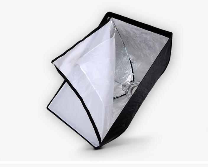 ФОТО Nicefoto K80*120cm Umbrella Frame Photo Studio Square Softbox Soft Box For All Strobe Flash Lighting