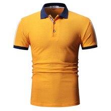 Polo shirt summer men's fashion cotton short-sleeved polo shirt high quality men's fashion multi-color short-sleeved polo shirt цена 2017