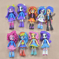 New 9 pcs/lots PONY GIRLS Pony Set Doll Treasure Girl Biqi Ziyue Soft Toys