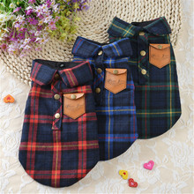 Lattice Pet Dog Shirts Coats Jackets Puppy Vest For Small Dogs Clothes Teddy clothes Pet Cat Coats Outfit Dog Clothing