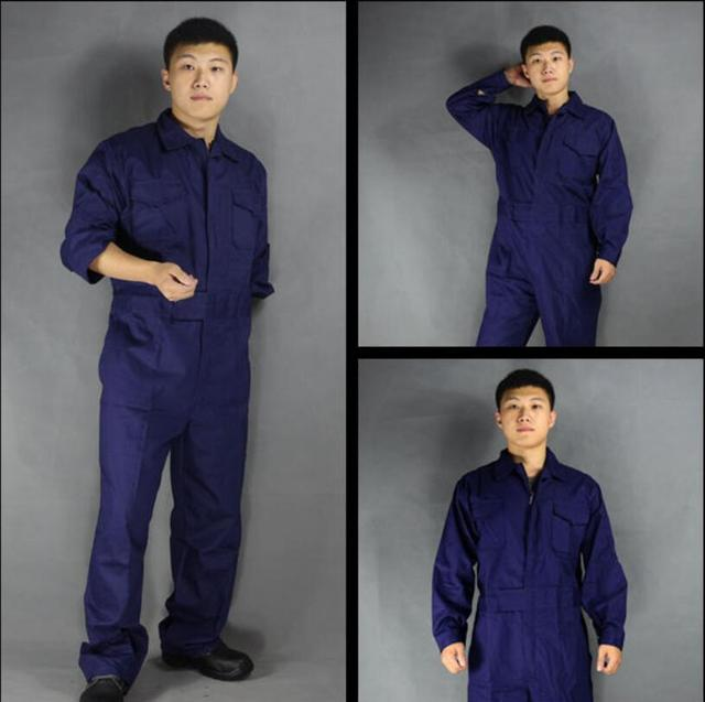 Men's Cotton Jumpsuits One-piece Tide Men's Tooling White Work Overalls Long Sleeve Working Coveralls Workwear Repairman Xs-3xl 5