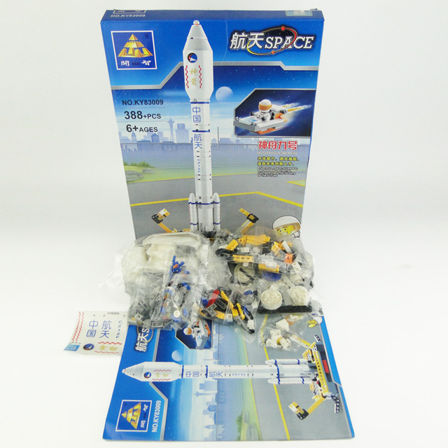 Kazi Aerospace Series Rocket Emission Station Models Building Toys For Children Juguetes Educativos Bloques De Construccion