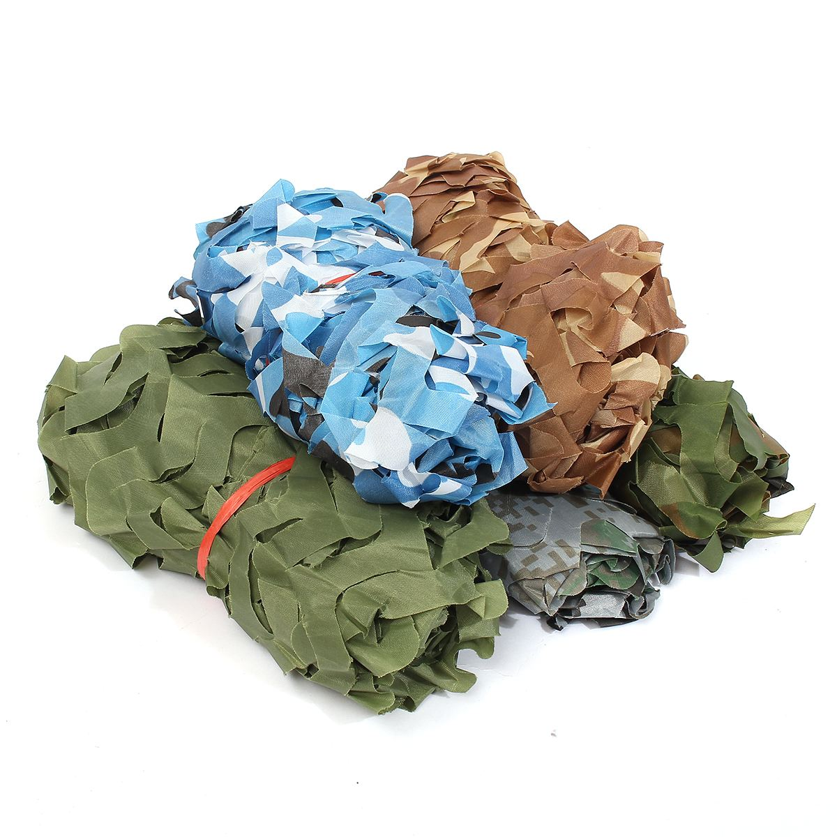 1*1.5m Hunting Military Camouflage Net Woodland Army Training Camo Netting Car Covers Tent Shade Camping Sun Shelter
