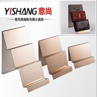Wallet rack display frame stainless steel rose gold hand bag display shelf boutiques