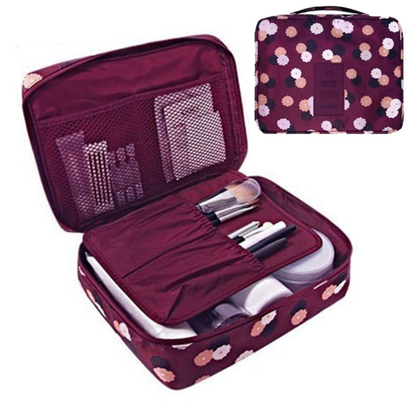 Women Cosmetic Bag Multifunction Organizer Waterproof Portable Makeup Bag Travel Necessity Beauty Case Wash Pouch Makeup Bag