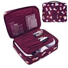 Bolsa feminina para cosméticos, bolsa feminina organizadora multifuncional impermeável portátil para maquiagem de viagens, de beleza
