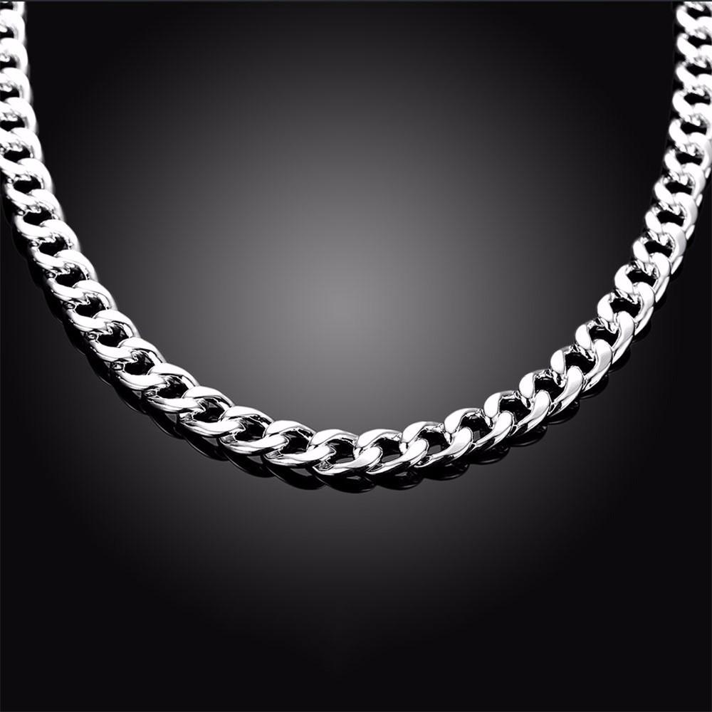 11-925 Sterling Silver Men Jewelry 24 inches Choker Statement Necklaces Women Vintage Collier Colar Bijoux Collares kolye QA0711