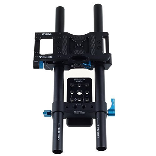 FOTGA DP500IIS DSLR 15mm rod rail support cheese baseplate rig for follow focus fotga dp500iis quick release qr baseplate rail system rod for follow focus dslr