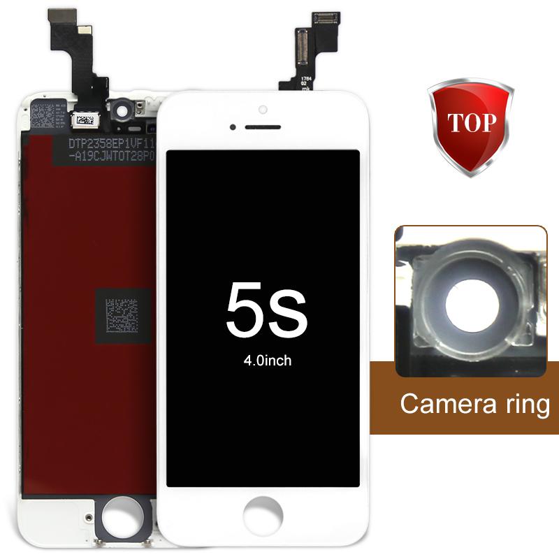 Prix pour 20 pcs/lot aaa w/b pour iphone 5s lcd screen display assemblée digitizer avec oem verre remplacement + caméra titulaire