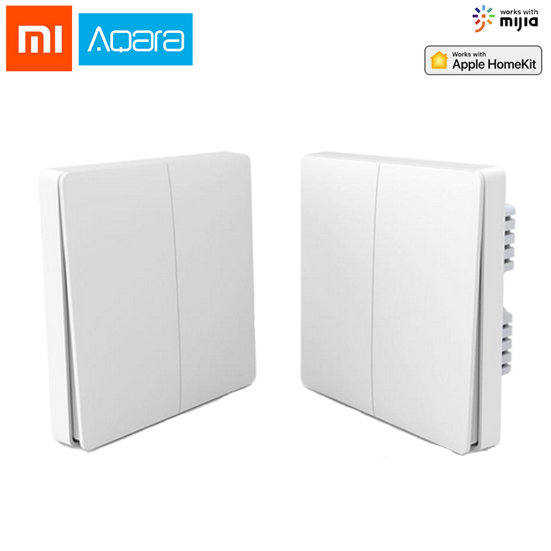 Original Xiaomi Aqara Mijia Smart Home Light Control Single Fire Wire ZigBee Wireless Key Wall Switch Via Smartphone APP Remote