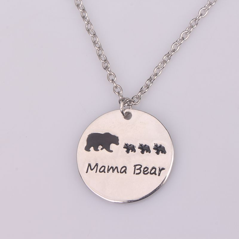 store white necklace bear enclosed product mama the golden gold