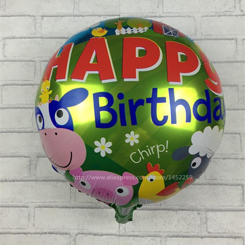 XXPWJ The new aluminum animal toys for children birthday balloons birthday ballo