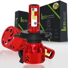 EURS (TM) 2 шт. светодиодные лампы H4 H7 светодиодные фары автомобиля автомобильной XHP50 80 Вт 9600LM H1 H11 9005 9006 9007 9004 стайлинга автомобилей 6000 k DC9-36V