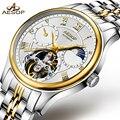 AESOP автоматические механические часы для мужчин золотые мужские s часы лучший бренд класса люкс водонепроницаемый скелет мужские часы для м...