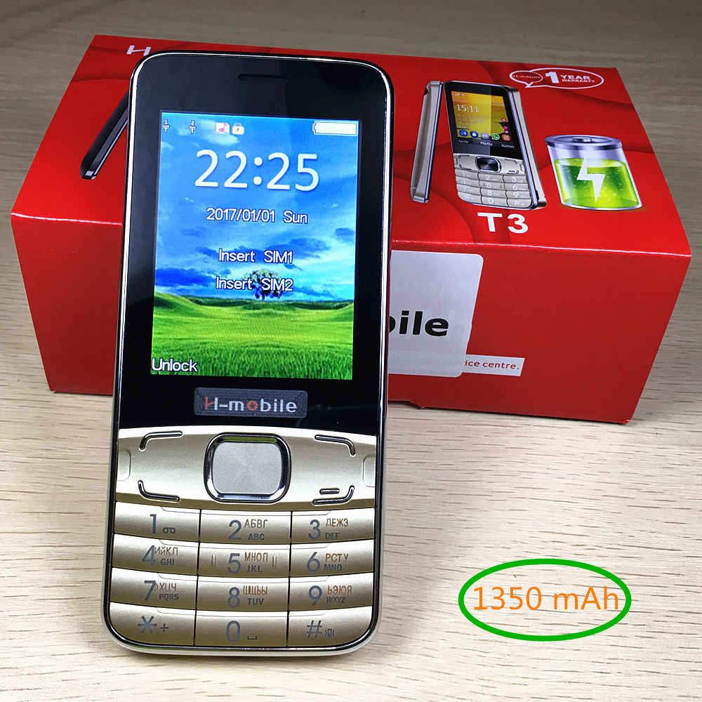 1350 mAh de la batería T3 teclado ruso menú ruso 2,8 teléfono móvil barato teléfono celular gsm teléfonos celulares teléfonos móviles originales