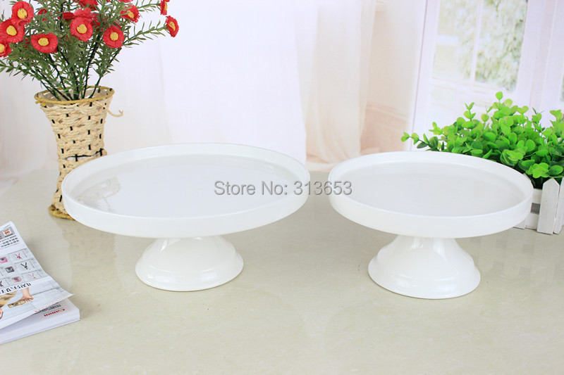 White Color 8 Inch Ceramic Tableware Tray Cake Pan Cupcake