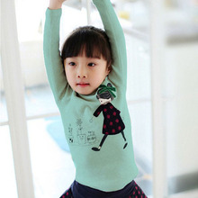 Lovely Kids Child Toddler Soft Cotton Fall T-Shirt Tee 2-7 Y Cozy Baby Girl Tops Shirts