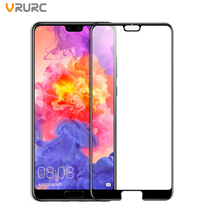 VRURC 3D Curved Premium Tempered Glass For Huawei P20 Screen Protector 9H Toughened Protective Film For Huawei P20 Pro Glass