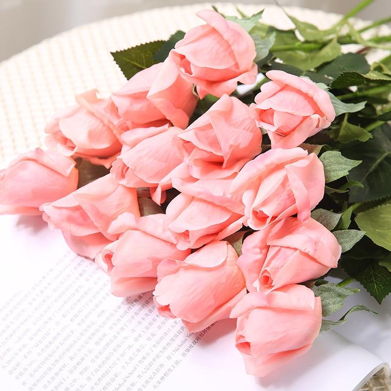 Klonca High grade Romantic Cloth 45cm 1pc Artificial Flower Rose Fake Flower for Wedding Home Party