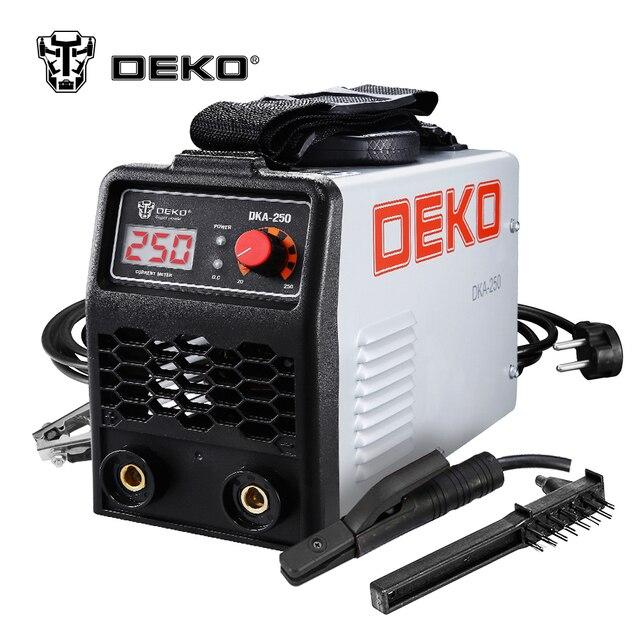 DEKO DKA-250 250A 6.8KVA IP21S inversor de arco eléctrico de la máquina de soldadura MMA soldador de soldadura y de trabajo