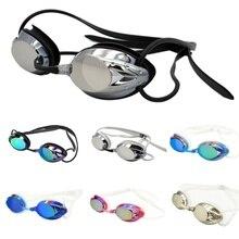 Водонепроницаемые противотуманные очки для плавания, унисекс, для занятий водными видами спорта на открытом воздухе, красочные Плакированные очки для плавания с носом, замена моста