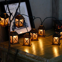 HUSUYUHU Christmas Holiday String Lights Lamp House Room Shop Vintage Hanging Lights Outdoor Xmas Party Decorative 3M 20 LEDS