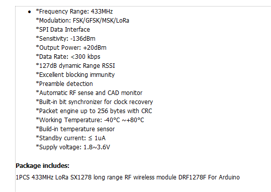 Detail Feedback Questions about 1Pcs 433MHz LoRa SX1278 long