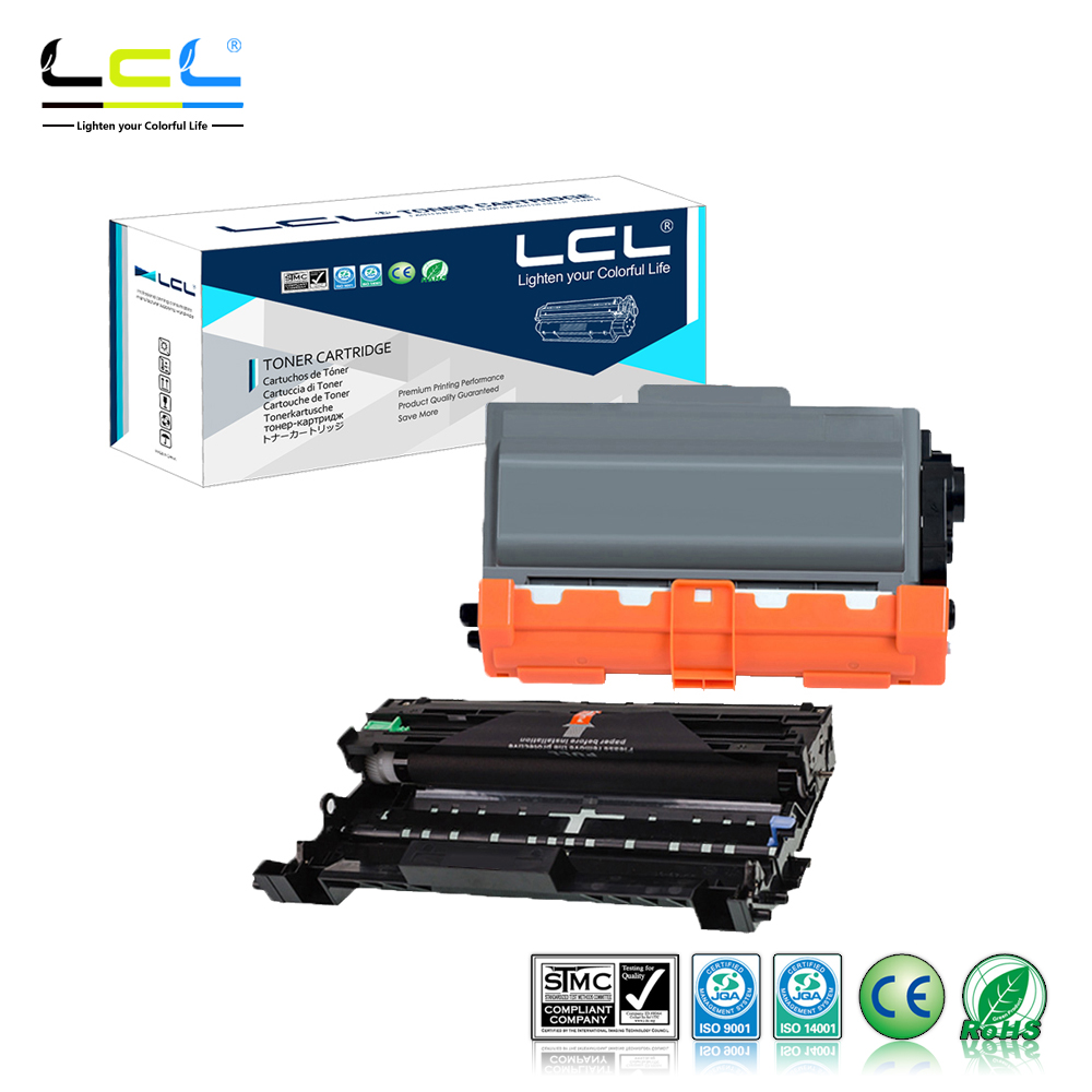 LCL TN750 TN720 DR720 TN DR 750 (2-Pack Black) Toner Cartridge Compatible for Brother DCP-8110DN/HL-5440D/HL-5450DN/HL-5470DN dr512 dr 512 dr 512 drum cartridge for konica minolta bizhub c364 c284 c224 c454 c554 image unit with chip and opc