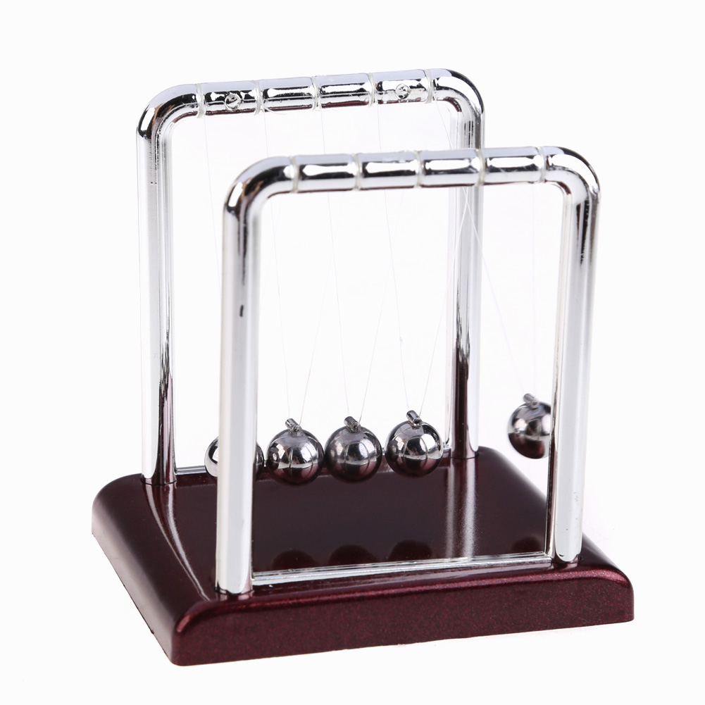 Newtons Cradle Steel Balance Balls Physics Science Teaching Pendulum School Educational Supplies Desk Accessory Toy Gift