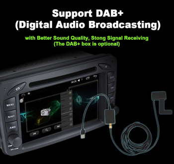 Digital Audio Broadcasting (DAB+) for car audio stereo media system gps DVD player image