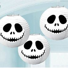 Halloween Decorations 1pc/set Big! 30cm White Ghost Jack Skellington Face hanging Paper Lantern for party supplies