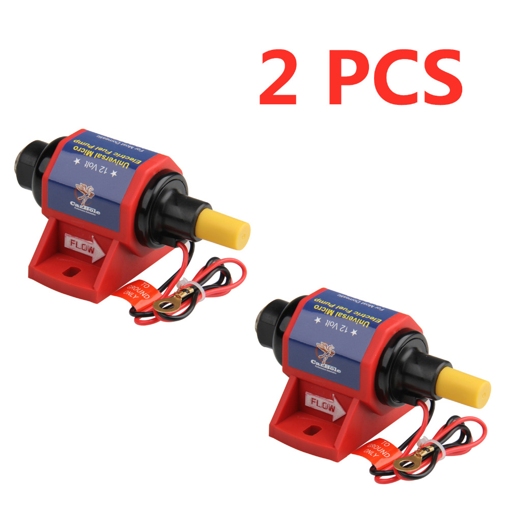 Electronic Fuel Pump Red Fittings 7PSI 100 GPH Carburetor US SHIPPER