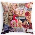Cool Art Design RuPaul Double size Printing Square nice Pillowcase for 12''14'' 16'' 18'' 20'' 24'' free shipping