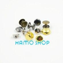 100pcs/lot 12x12mm Mix Color Round Double Cap Rivet Stud Metal Spike Rock Leathercraft DIY Accessories цены