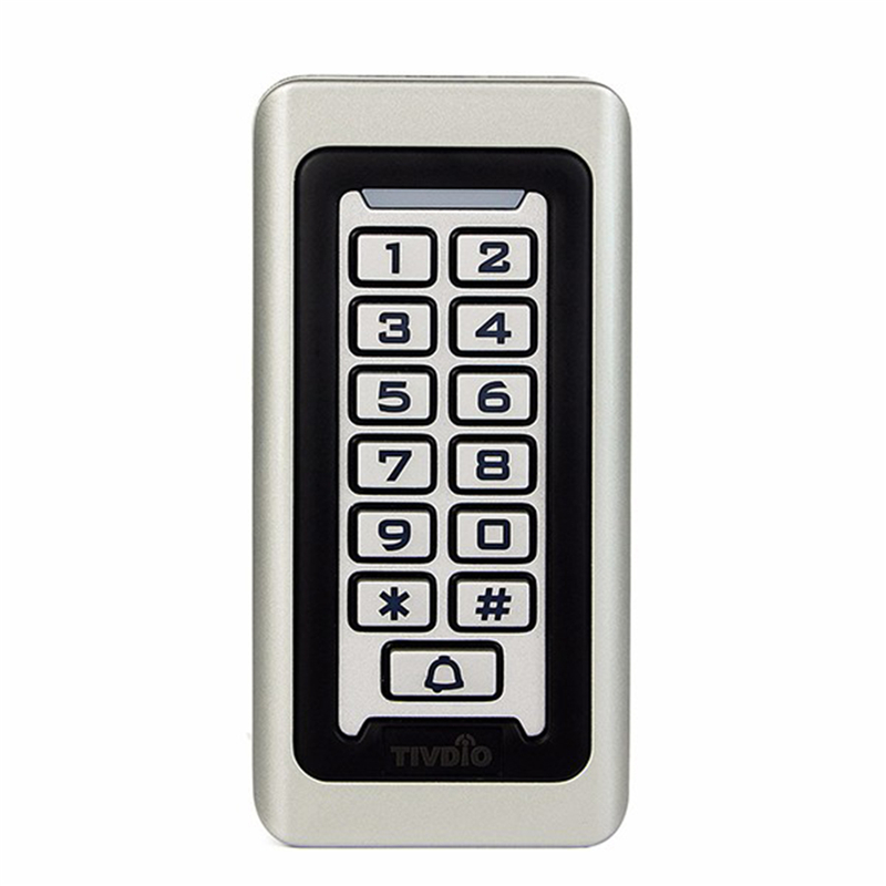 RFID Metal keypad Access Control System With Waterproof Cover Proximity Card Standalone 2000 Users 125KHz Door Access Control