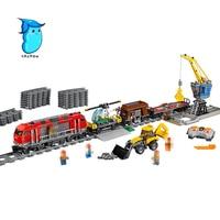 StZhou 1033pcs City Engineering Remote Control RC Train Lepin Building Block Compatible Brick Toy