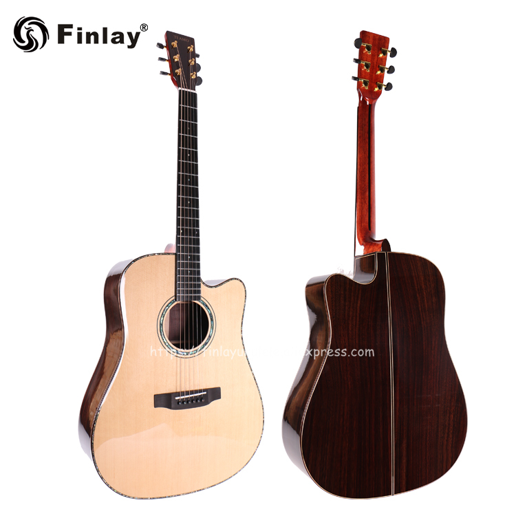 Professional Cutaway 41 Acoustic Guitars,Solid Spruce Top/Solid Rosewood Body guitarra eletrica With LCD Pickup +Hard caseProfessional Cutaway 41 Acoustic Guitars,Solid Spruce Top/Solid Rosewood Body guitarra eletrica With LCD Pickup +Hard case