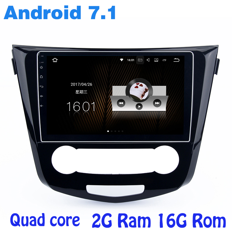 Quad core Android 7.1 car radio gps for Nissan X-trail Qashqai Rogue 2014-2017 with 2G RAM wifi 4G USB audio stereo mirror link harfey android 6 0 1024 600 quad core 10 1 car radio gps navigation for 2013 2014 2015 2016 nissan qashqai x trail 3g wifi swc