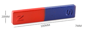 20 pieces Magnetic Teaching Tool Magnet Bar type magnet 100x20x7 mm blue red Toy magnet educational magnet bar фото