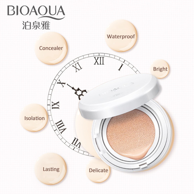 BIOAOUA Sunscreen Air Cushion BB CC Cream Concealer Moisturizing Foundation Whitening Makeup Bare For Face Beauty Makeup care 1