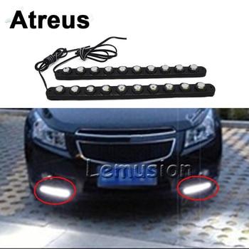 Atreus 2 uds para Mercedes benz W204 W203 W211 AMG Mini cooper Skoda Octavia a5 a7 luz diurna de coche DRL lámpara antiniebla 10 LED