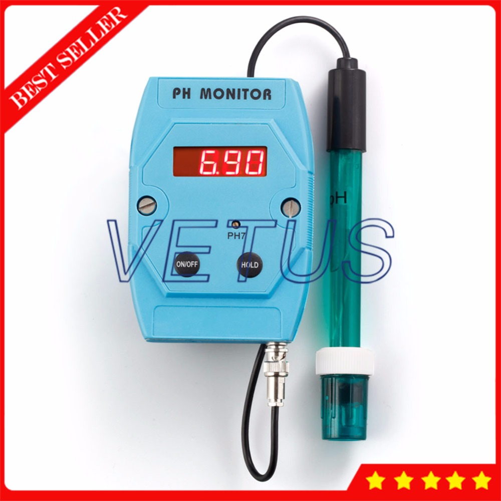 PH-025N Wallmount phmeter Digital PH Meter Price with data hold function PH monitoring equipment digital combo ph