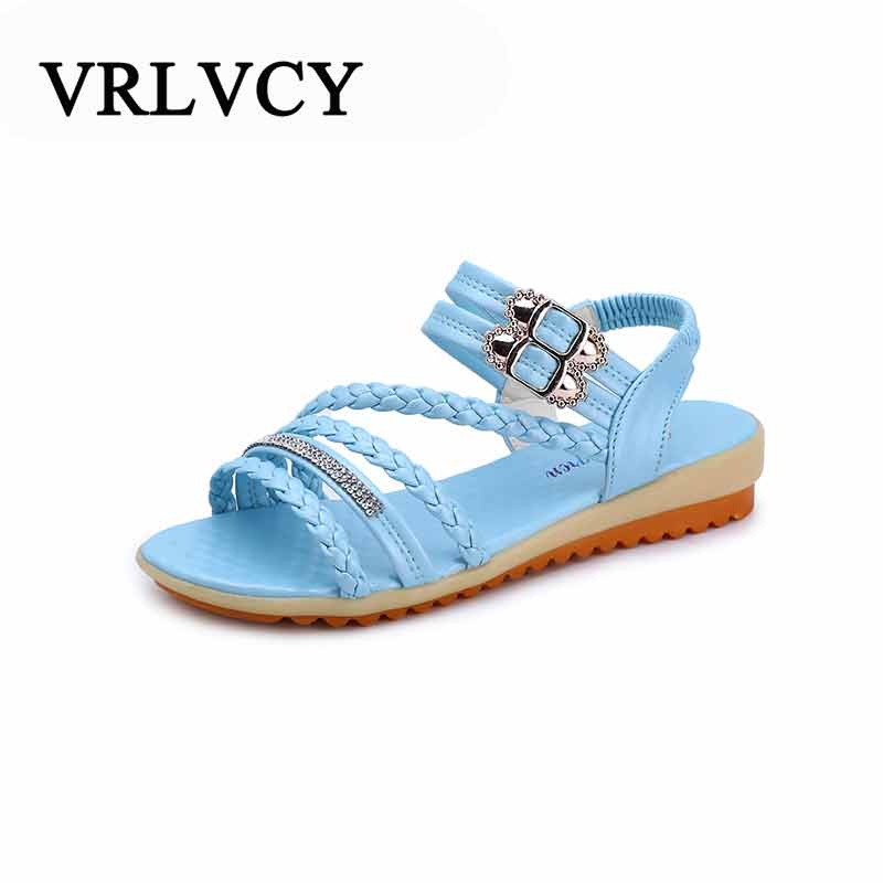 Summer sandals ladies flat fashion shoes casual occasions comfortable female sandals comfortable shoes discount 2018 fashion leather casual flat shoes women sandals summer shoes flat hollow comfortable breathable size 34 44