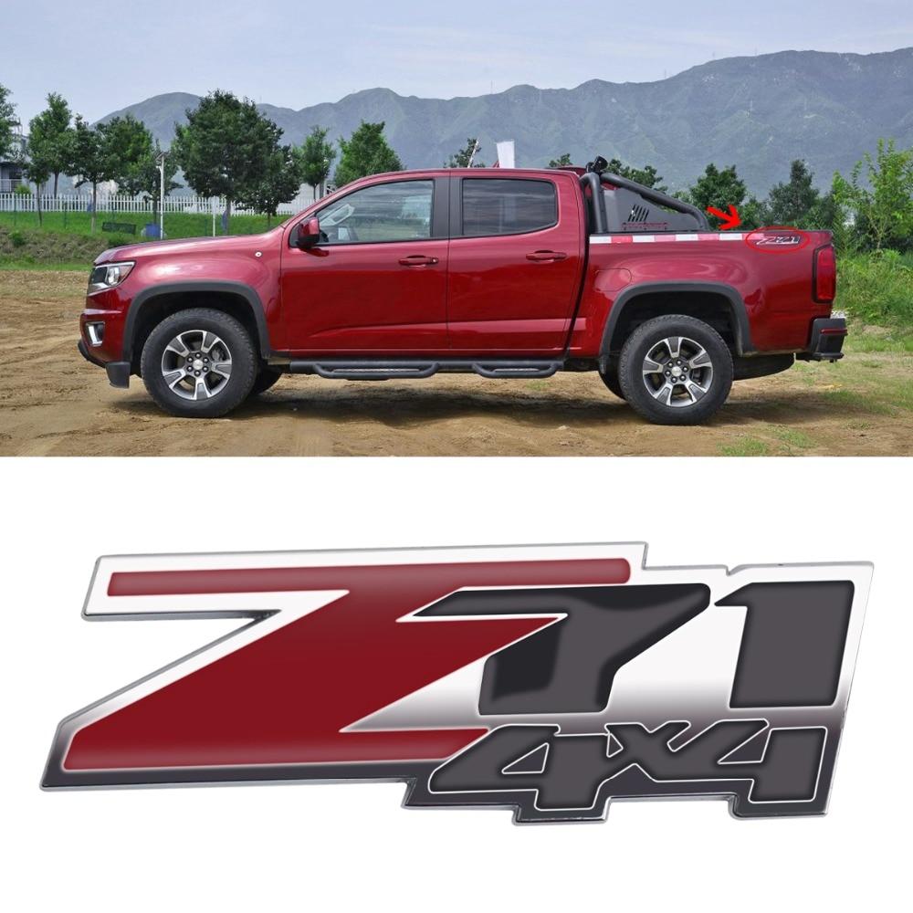 US $2 58 24% OFF|1pcs Z71 4x4 Badge Emblem Car Sticker for Chevrolet Chevy  GMC Silverado Auto Vehicle Logo Whole Body 9x3cm Decorative Stickers-in Car